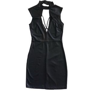 💙Hustler Net Pumesh Black Dress Size S 2/$20